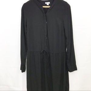 Splendid Shirt Dress Drawstring Elastic Waist Midi